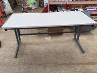 Straight Grey Desk