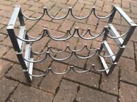 Solid metal 3-tier wine rack