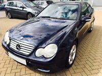 Clean Mercedes Benz Sport C230 Coupe - Metallic Blue