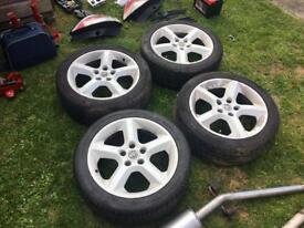 Vauxhall Astra alloy wheels in white 17inch and exhaust