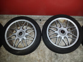 4 x Sparco racing wheels with tyres