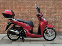 Honda SH 300cc (66 REG) in red, Immaculate Condition with ONLY 2054!