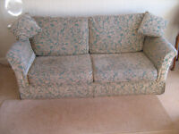 Three piece suite, woven chenille pattern fabric, very hard wearing.