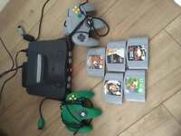 Nintendo 64 with 5 games 2 controllers