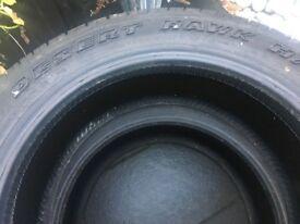 Desert Hawk 255/50/R19 107V Achilles XL Tyres X 2