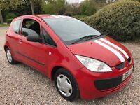 Mitsubishi Colt Red 1124cc Petrol 5 speed manual 3 door hatchback 55 Plate 30/12/2005 Red