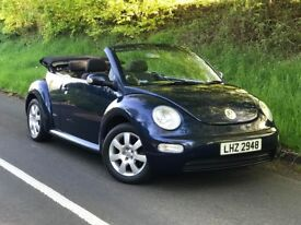 2003 VW BEETLE 1.6 Convertible Cabriolet, electric hood, trade in considered, credit cards accepted