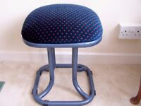 Six stools metal legs and soft blue cushion tops