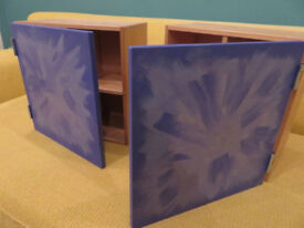 Hand Painted CD Storage Boxes, excellent condition