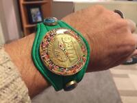 WBC bracelet, boxing gloves, world title