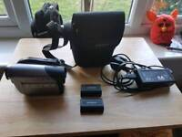 Samsung camcorder with x2 batteries