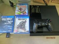 Sony Playstation 4 500GB Black with 3 free games- £110