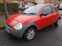 FORD KA 1.3 PETROL 2005 RED LONG MOT NEEDS TLC BARGAIN QUICK RUN AROUND PX TO CLEAR MAY P/X