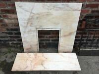 Marble fireplace surround and plinth