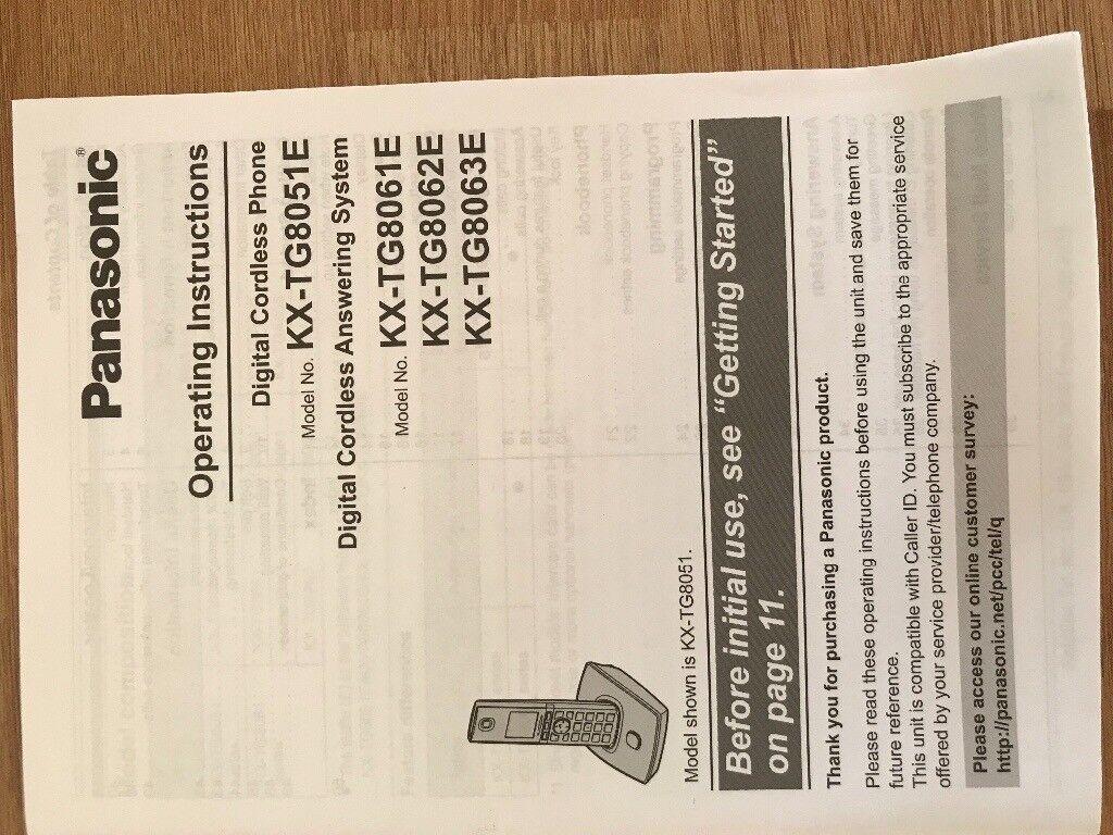 Panasonic Landline Phone Cordless Answer Machine Charging Base