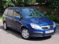 EXCELLENT 7 SEATER!! 2006 VAUXHALL ZAFIRA 1.6 16V LIFE, 1 YEAR MOT, 1 FORMER KEEPER, FSH, WARRANTY