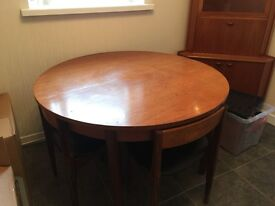 Dinning table and 4 chairs & tv cabinet