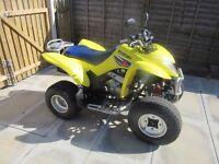 Suzuki LTZ 250 cc Quad Sport Bike ATV On / Off , Road Legal MOT till February18