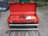 Halfords Tool Box With Two Drawers And 20 Assorted Tools
