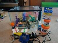 24L full fish tank set up