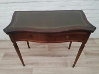 Leather Bound Desk/Console Table (DELIVERY AVAILABLE FOR THIS ITEM OF FURNITURE)