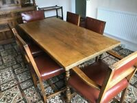 Vintage 1950s Dining Table & Chairs