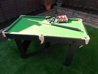 5' x 3' Foldable snooker table