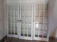 Internal glased doors