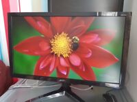 Acer 24 inch 1080p monitor. 1 ms response. AMD freesync. Built in speakers.