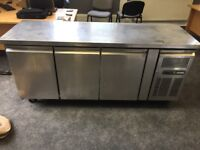 Stainless steel 3 drawer catering refrigerator preparation unit