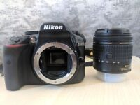 Nikon D3400 + AF-P 18-55VR Digital SLR Camera & Lens Kit +Case + SD Card (64GB)+ Flexible Tripod