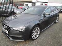 Audi A5 2.0 TDI 177 S LINE 5dr SPORTBACK + TECH PACK + SATNAV + LEATHER + 19 ALLOYS +... (grey) 2012