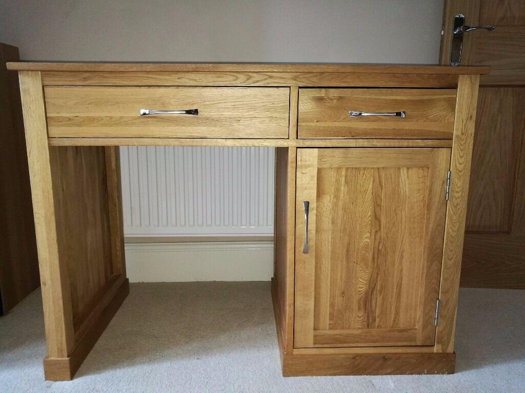 mobel oak single pedestal computer desk price reduced