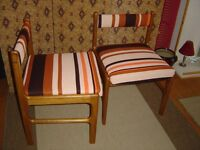 Retro 1960's Dining Chairs recently refurbished