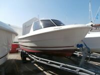 Smartliner Cuddy 19 fishing boat, complete with Suzuki 60hp and road trailer