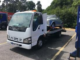 Isuzu NKR 3.5 ton recovery truck, beavertail