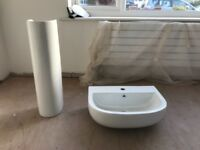 Toilet and sink for sale un-used