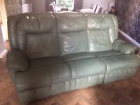 Leather suite recliner. £60