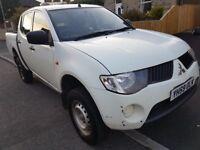 Mitsubishi L200 Pick Up White Manual LWB Dubale Cab 0 Owner on the V5