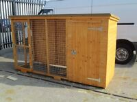 dog kennel with run quality made fully weather proof