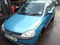 2002 Vauxhall Corsa 1.2 16v Club 5dr breeze blue z 20N 80u 04l BREAKING FOR SPARES