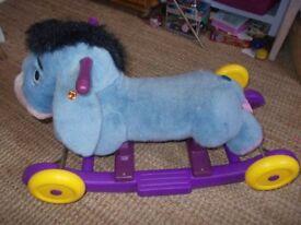 Disney Eeyore rocking/wheels Donkey