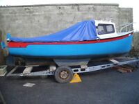 Tamar Pilot 16 Boat with Inboard diesel and Trailer