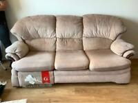 Three seater sofa with recliner