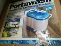 Brand New Portable Twin Tub Washing Machine Spin Dryer Camping Caravan
