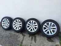 * * * * BMW Alloy wheels & tyres 205/55r16 * * * *