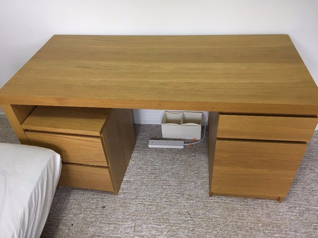 computer / office desk with additional cabinet with drawers