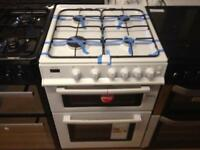 White 600 wide gas cooker