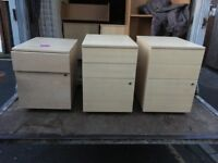 2 or 3 drawers lockable cabinets