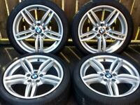 "19"" GENUINE BMW M SPORT ALLOYS 351M WHEELS 1 3 4 5 7 SERIES 5x120"